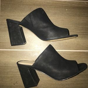 Saks Fifth Avenue Shoes - Saks fifth Avenue black block heel mules size 8.5